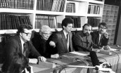 Pressikonverents pärast suveräänsusdeklaratsiooni vastuvõtmist, 16. november 1988. Fotod : T. Malsroos Eesti Rahvusraamatukogu